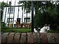 SJ6703 : Cat at the Old School House (Ironbridge) by Fabian Musto