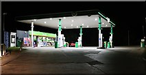 ST7172 : Petrol station on London Road, Wick by David Howard
