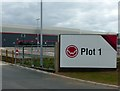 SK4726 : East Midlands Gateway – Plot 1 (Contractor's sign) by Alan Murray-Rust