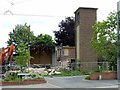 SK5535 : Demolition of St Francis Church, Clifton by Alan Murray-Rust