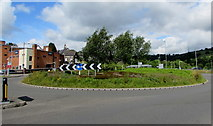 ST1599 : Station Road roundabout in Bargoed by Jaggery