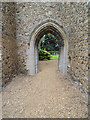 TF8700 : Porch in old tower by David Pashley