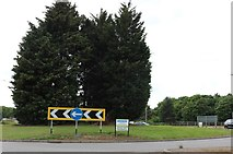 SP8535 : Roundabout on Standing Way, Bletchley by David Howard