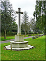 NY3954 : Cross of Sacrifice, Carlisle Cemetery by Rose and Trev Clough