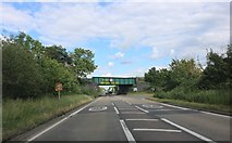 SP6220 : Railway bridge on the A41, Blackthorn by David Howard