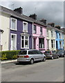 SN5748 : Colourful houses in Lampeter by Jaggery
