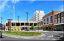 SO8554 : Cathedral Square, Worcester by Des Blenkinsopp