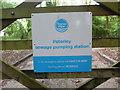 SU8899 : Name Plate at Peterley Sewage Pumping Station by David Hillas