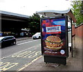 ST3089 : Nashville Chicken advert on a Crindau bus shelter, Newport by Jaggery
