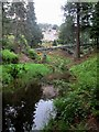 NU0702 : Iron  Bridge  and  Cragside  from  the  side  of  Debdon  Burn by Martin Dawes