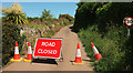 SX8856 : Closed road, Galmpton by Derek Harper