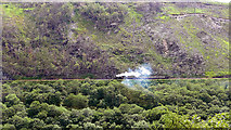 SN7079 : A Vale of Rheidol train viewed across the valley by John Lucas
