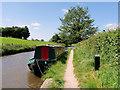 SJ3934 : Narrowboat on the Llangollen (Shropshire Union) Canal near Ellesmere by David Dixon