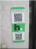SH6266 : HiPoints information QR code at The Market Hall (Neuadd Ogwen), Bethesda by Meirion