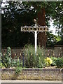 TL7099 : Stoke Ferry Village sign by Geographer