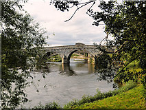 SJ5409 : River Severn, Atcham Bridge by David Dixon