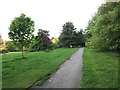 SE2741 : Path at the top of Golden Acre park by Stephen Craven