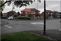 SJ7894 : Mini roundabout on Bradfield Road by Bill Boaden