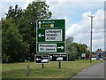 TF5104 : Roadsign on the A1122 Wisbech Road by Adrian Cable
