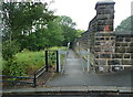 SE2831 : Footpath alongside Holbeck Cemetery, Leeds by Humphrey Bolton