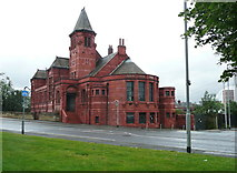 SE2932 : The former public library, Ninevah Road, Holbeck, Leeds by Humphrey Bolton