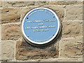 SE2918 : The old town school, Horbury - plaque by Stephen Craven