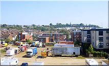 TQ7369 : Yard near the railway by Des Blenkinsopp