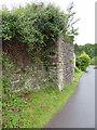 SO6510 : Former railway bridge support in Upper Soudley by John S Turner