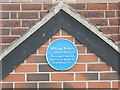SE2918 : Plaque to William Baines, Shepstye Road, Horbury by Stephen Craven