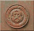 NY1381 : County Council of Dumfriesshire Electricity Department crest by Richard Sutcliffe