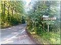 TM4064 : Lane north of Knodishall level crossing by Christopher Hilton