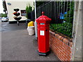 ST3390 : Victorian pillarbox in the centre of Caerleon by Jaggery