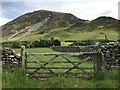 NY1521 : Old gate to grazing land by Richard Humphrey