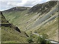 NY2213 : Looking along The Honister Pass by Richard Humphrey