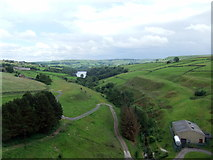 SE0118 : Ryburn valley from Baitings Dam by David Brown