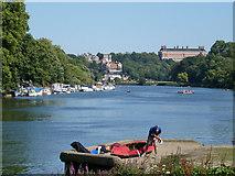 TQ1773 : View downriver, Richmond by Robin Webster