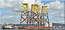 """J3778 : The """"Boabarage 36"""", Belfast harbour (June 2019) by Albert Bridge"""