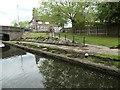 SK4740 : Closed towpath by Bridge 17, Erewash Canal by Christine Johnstone