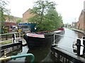 SK4833 : Working boat 'Bath' entering Long Eaton Lock by Christine Johnstone