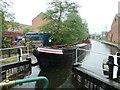 SK4833 : Working boat 'Bath' entering Long Eaton Lock by Christine Johnstone