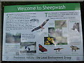 SP8600 : Information Board at Sheepwash Pond, Prestwood (2) by David Hillas
