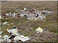 NJ1208 : Aircraft wreckage near Little Garvoun by Inchrory, Tomintoul by ian shiell