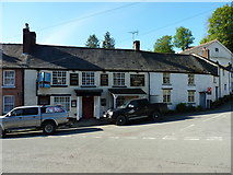 SJ1226 : The Plough Inn, and its adjoining listed buildings, in Llanrhaeadr-ym-Mochnant by Richard Law