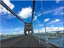 SH5571 : Menai Suspension Bridge by Alan Hughes