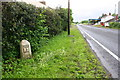 NY4659 : Milestone on south side of A689 in Crosbymoor by Roger Templeman