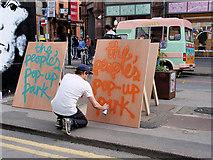 SJ8498 : Stevenson Square, The People's Pop-up Park by David Dixon
