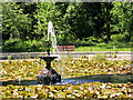SD5908 : Ornamental Fountain and Lily Pond at Haigh Country Park by David Dixon