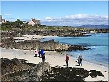 NM2824 : On the beach at Baile Mòr by M J Richardson