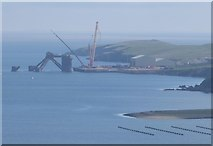 HU4545 : Oil rig being dismantled in Dales Voe by Russel Wills