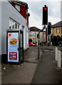 ST3388 : McDonald's advert on a BT phonebox, Somerton Road, Newport by Jaggery